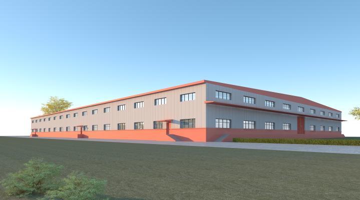 現代工業廠房3D模型【ID:251281308】