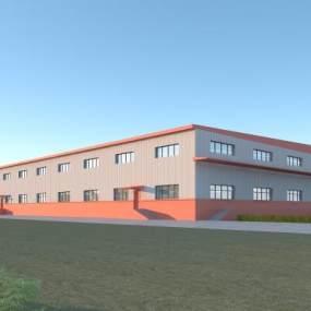 现代工业厂房3D模型【ID:251281308】