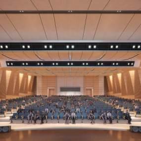 现代剧院3D模型【ID:631292855】