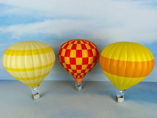 現代熱氣球3D模型【ID:443205474】