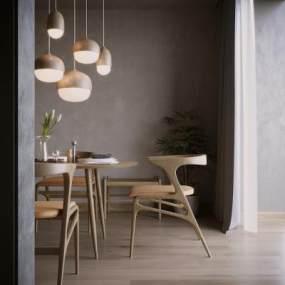 现代餐厅空间 3D模型【ID:541272192】
