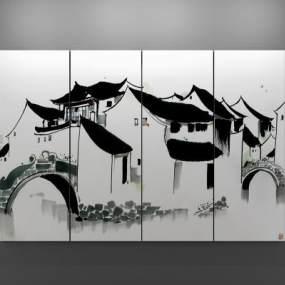 新中式装饰画3D模型【ID:233573926】