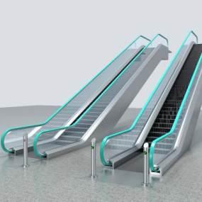 现代电动扶梯3D模型【ID:443640573】