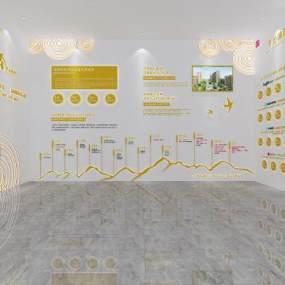现代文化墙3D模型【ID:947063193】