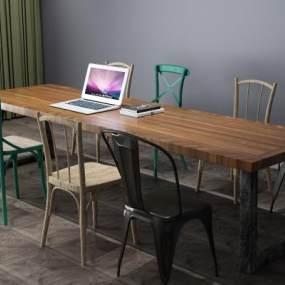 办公桌,会议桌3D模型【ID:833492959】