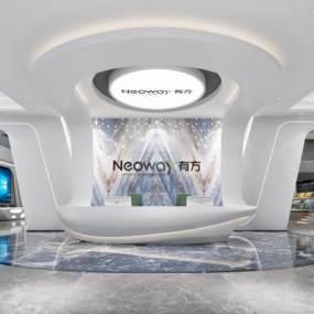 现代科技前台大厅3D模型【ID:950907212】