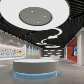 现代企业文化展厅3D模型【ID:934638763】