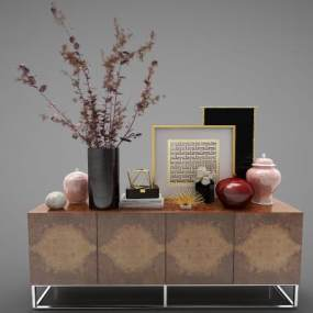 现代风格装饰柜3D模型【ID:150455144】