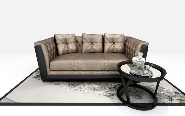 歐式沙發3D模型【ID:633673693】