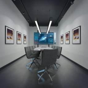 現代會議室3D模型【ID:948114094】