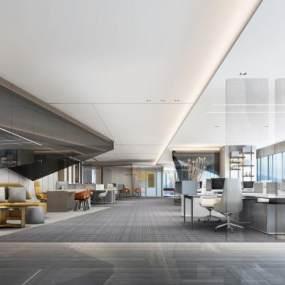 现代办公室3D模型【ID:953269038】