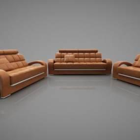 现代风格沙发3D模型【ID:643229630】