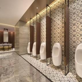 新中式酒店卫生间3D模型【ID:434500162】