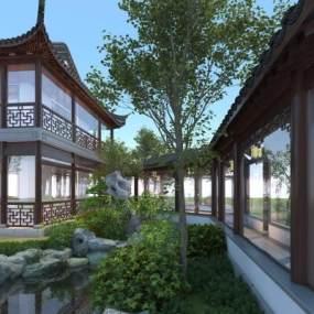 古建庭院 3D模型【ID:240832174】