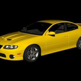 现代黄色汽车3D模型【ID:432495795】
