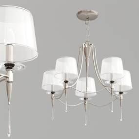 現代多頭吊燈3D模型【ID:734826878】