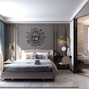 现代卧室3D模型【ID:236214541】