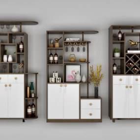 现代酒柜3D模型【ID:134727862】
