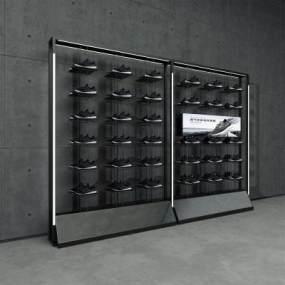現代鞋店鞋架3D模型【ID:147878028】