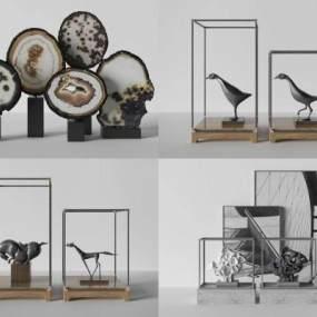 新中式雕塑饰品3D模型【ID:235944591】