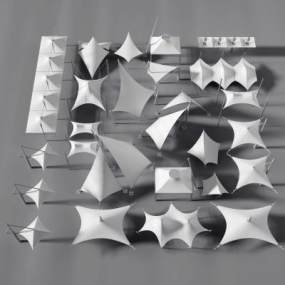 现代张拉膜3D模型【ID:242279182】