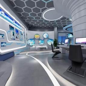 未来科技展厅下载3D模型【ID:931076700】