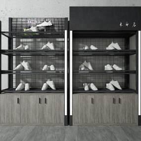現代鞋架3D模型【ID:952405829】