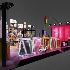 现代风格雪糕店3D模型【ID:631045418】