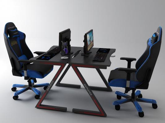 后现代电脑桌3D模型【ID:946712565】