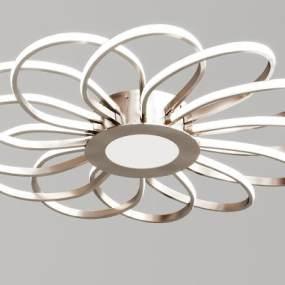 现代花形简约吸顶灯3D模型【ID:735772860】