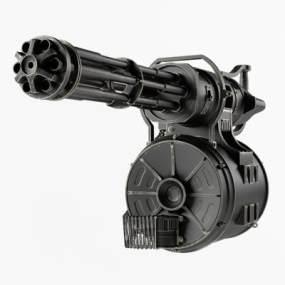 现代机关枪3D模型【ID:434339237】