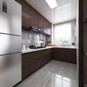 现代厨房3D模型【ID:549003318】