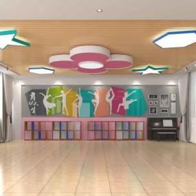 现代舞蹈室3D模型【ID:944463699】