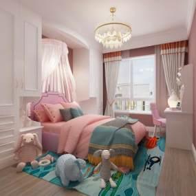 现代女儿房3D模型【ID:545545716】