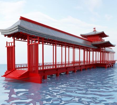 水榭长廊3D模型【ID:241758105】