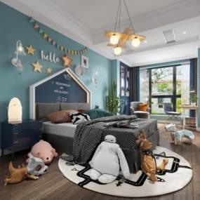 北歐兒童房3D模型【ID:547569216】