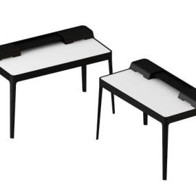 现代简约原木办公桌3D模型【ID:935427146】