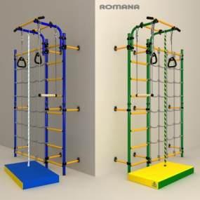 现代家庭体育器材3D模型【ID:332716893】