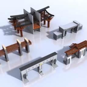 新中式古建小合院3D模型【ID:135829320】