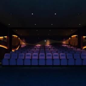 现代电影院3D模型【ID:634790871】