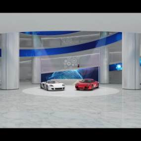 现代汽车展厅3D模型【ID:931654787】