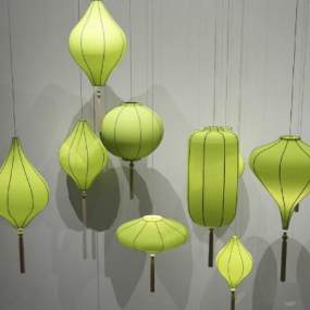 新中式吊燈3D模型【ID:750486862】