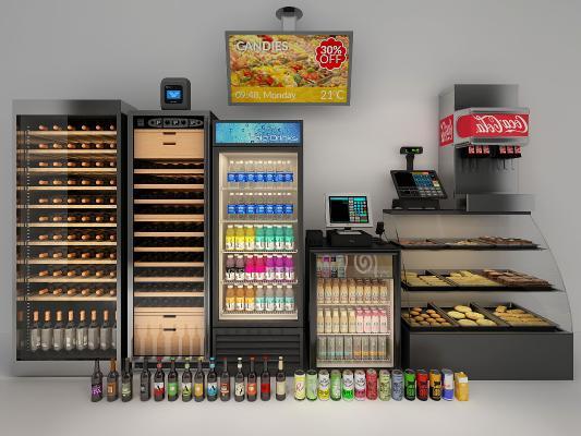 現代冰柜冷藏柜3D模型【ID:231311677】