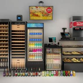 现代冰柜冷藏柜3D模型【ID:231311677】