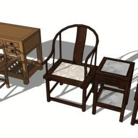 中式桌椅【ID:449176256】