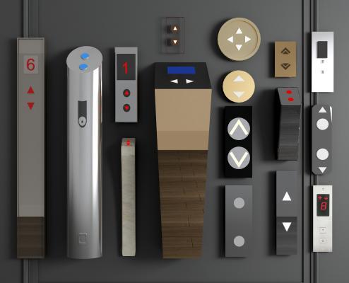 现代金属电梯落地开关按钮个性按钮智能按钮简易按钮