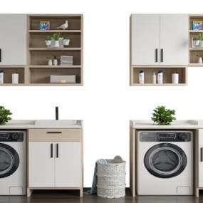 现代洗衣机3D模型【ID:152867896】
