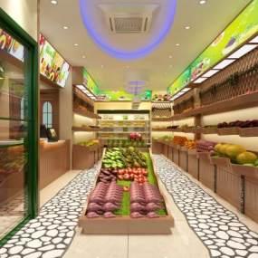 现代水果店3D模型【ID:131478250】