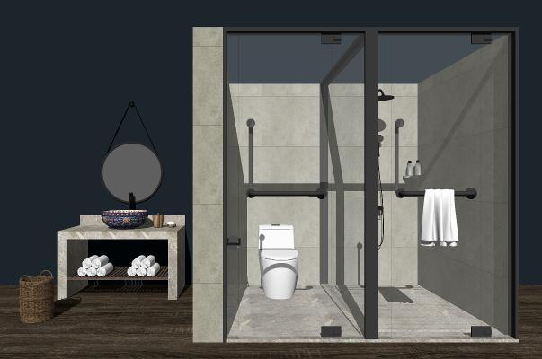 现代卫浴组合SU模型【ID:350651480】