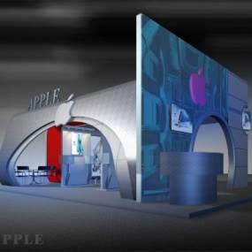 现代APPLE电脑公司展会3D模型【ID:944073775】